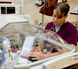 Wilmington MA Neonatal Nurse with baby